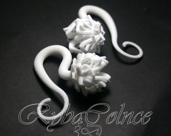 Gauges/ Plugs / The Lotus Flower /3D jewelry/3D printed nylon