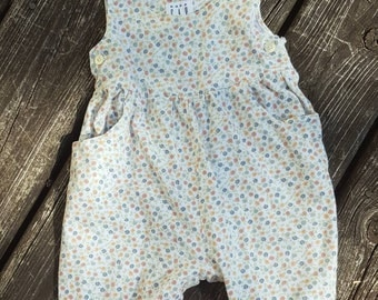 Baby Gap Floral Romper with pockets. 3-6 months