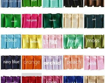Box Pleated satin Ribbon,7/8 inch wide color choice price for 1 yard