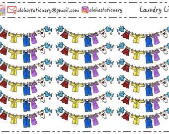 Laundry Line Stickers
