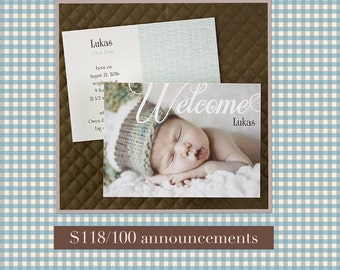 Baby, announcements