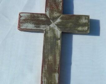 Multi-colored Distressed Rustic Cross