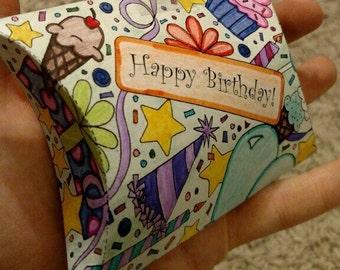 Coloring Page Printable Digital Download Birthday Pillow Box Small 1
