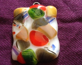Infused glass pendant
