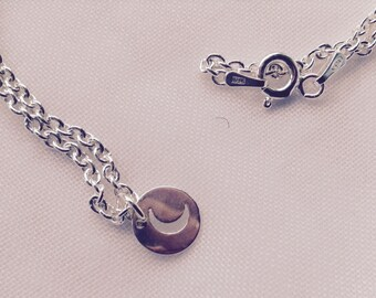 Amici. Sterling silver moon necklace