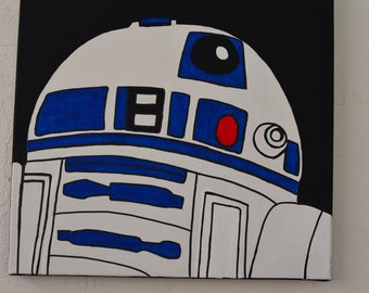 Star Wars R2D2 Painting On Canvas