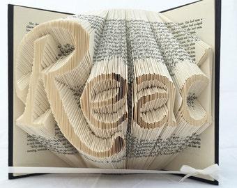 Folded Book Art- 'Read'
