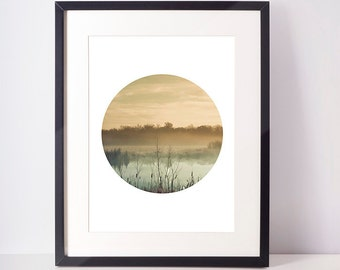 SALE - 50% Forest Print, Circle Print, Circle Art, Forest Photography, Cloud Photography, Cloud Print, Forest Art, Instant Download print