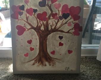 Heart tree painting