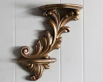 Two Shelved Decorative Sconce by Dart / Homco
