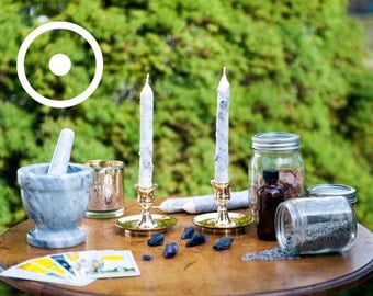 Creativity and Health: Sun Planetary Magic Hand-Dipped Spell Candles
