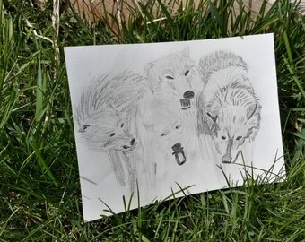 Wolf pack(pencil sketch )