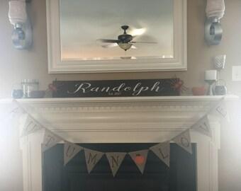 Family name wood decor sign