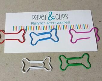 1 Dog Bone Paper clip Bookmark