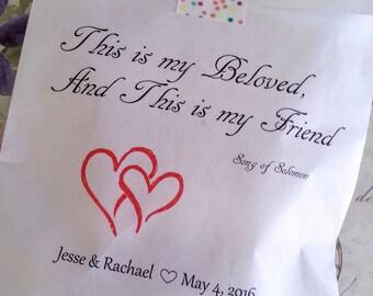 Wedding Gift Bag Poems : Wedding favor bag Shower favor bag Poem Poetry by DesertAbundance
