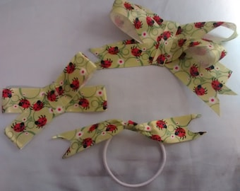 Ladybug hair bows