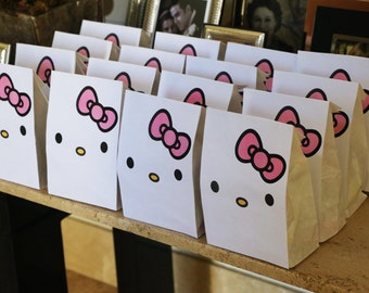 Hello Kitty Party Gift Bag, Printable, for Party Gift Favors