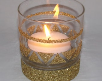 Hand made tealight candle holder