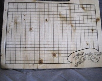 Gridded Pine Cutting Board