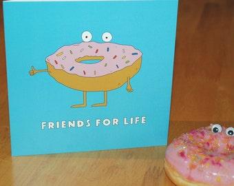 Food Greeting Card Donut Fun Pun