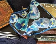 Pansies 1: Silk Handkerchief