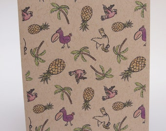 Greeting Card- Tropical pattern