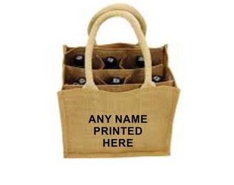 6 Bottle Can or Wine Jute Bag