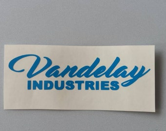 VANDELAY INDUSTRIES Seinfeld Vinyl Car Window Decal .. Free Shipping ..  Yeti Laptop Sticker Wine Glass Beer Mug Frame Sports Bottle
