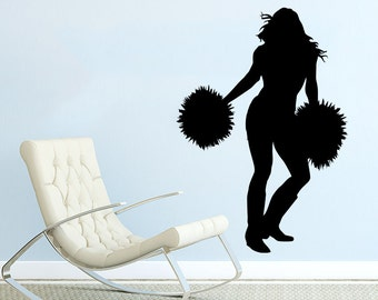 Cheer wall decal etsy for Cheerleader wall mural