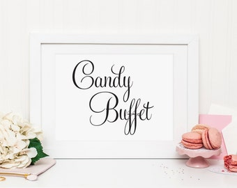 Wedding Candy Buffet Sign, Wedding Candy Bar Sign, Wedding Candy Table, Wedding Dessert Table Sign, Wedding Dessert Sign, Reception, WFS04