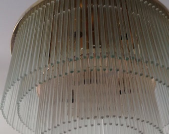 Gaetano Sciolari Brass Glass Rod Chandelier