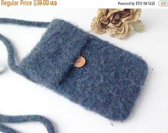 SALE Felted Wool Purse / Felted Wool Bag / Boho Bag / Boho Purse / Felted Wool Messanger Bag / Felted Boho Purse / Wool purse