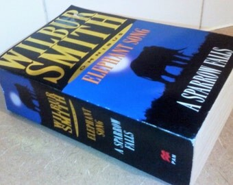 Wilbur Smith Paperback Two Books in One - Elephant Song - A Sparrow Falls - Great Fathers Day Gift