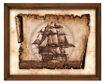 Pirate Ship Art,Pirates of the Caribbean,Pirates Sail Ship,Wall Art,Wall Decor,Pirate Poster,Antique Sail Ship,Printable,Instant Download