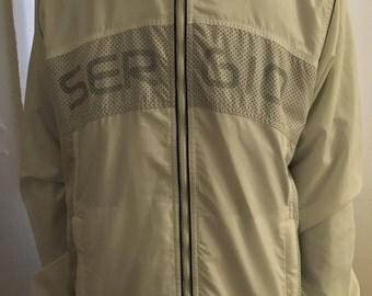 Large White Sergio Tacchini Zip-up Hooded Tracksuit