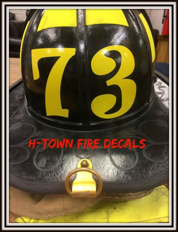 Fire Helmet Decal Sticker Reflective Station - Reflective helmet decals