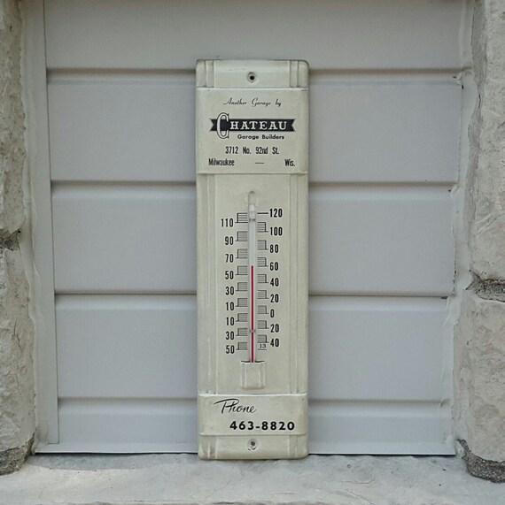 Milwaukee Garage Builders #21: Advertising Thermometer Chateau Garage Builders Milwaukee WI