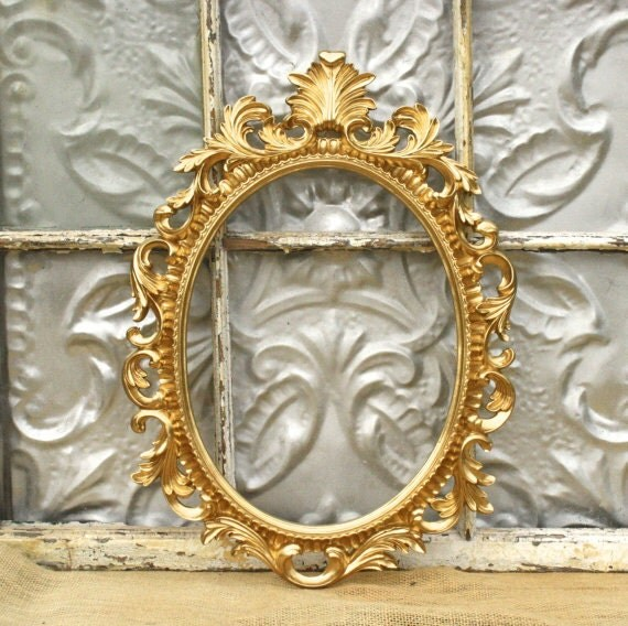 Items similar to vintage style picture frame shabby chic for Bungalow style picture frames