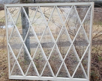 Antique wood window huge 5ft x 4 1/2ft sash