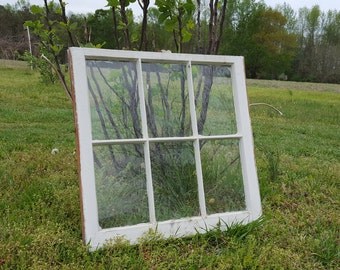 Vintage Antique Window Sash ~ NO GLASS 32x27