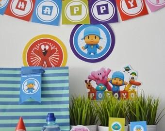 Pocoyo Printable Birthday Party - Pocoyo Party - Elly Birthday Party - Pato Birthday Party - Pocoyo