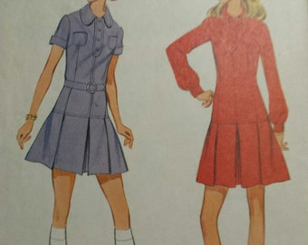 Precious Hiphugger dress pattern in sz 8 (bust 31 1/2).  1970 from McCalls, 2262