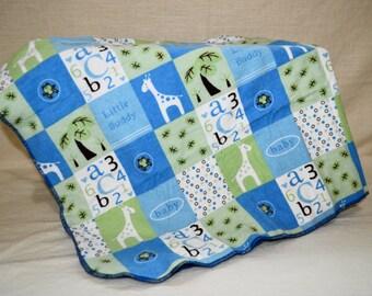 Baby Boy Recieving Blanket