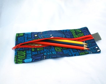Pencil Case - Doctor Who TARDIS- School Supplies- It's Bigger on the Inside