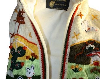 Child waistcoat embroidered by hand with hood leprechaun