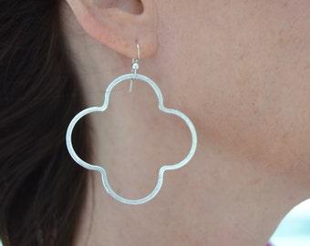 Large Quatrefoil Earring