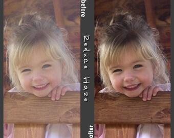 Reduce Blue Haze Photoshop Action - INSTANT DOWNLOAD