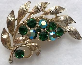 Lisner Signed Leaf Styled Brooch