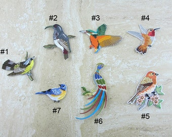 Bird Embroidery Patch Iron On