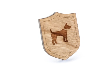 Farmdog Lapel Pin, Wooden Pin, Wooden Lapel, Gift For Him or Her, Wedding Gifts, Groomsman Gifts, and Personalized